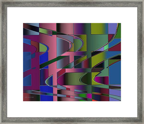 Curves And Trapezoids 3 Framed Print