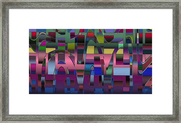 Curves And Trapezoids  Framed Print