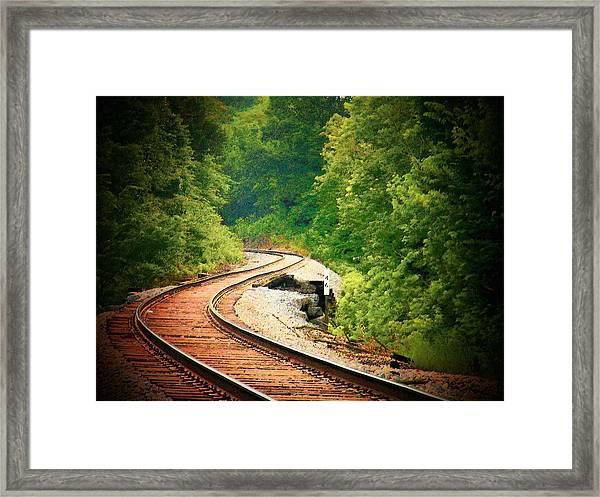 Curvy Track Framed Print