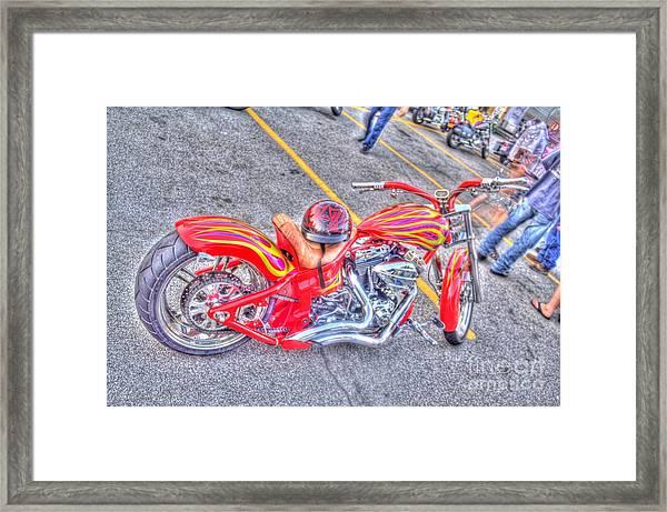 Custom Bike Framed Print