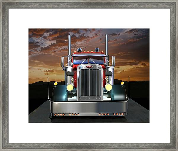 Custom Peterbilt Framed Print