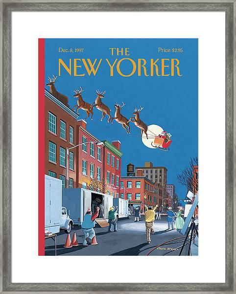 Cut Framed Print by Bruce McCall