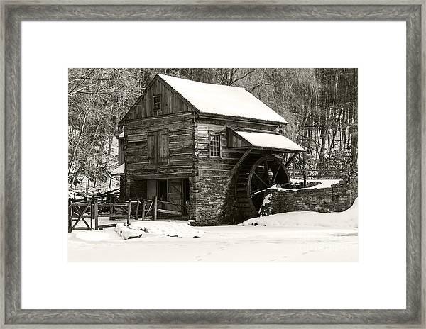 Cuttalossa In Winter Iv Framed Print