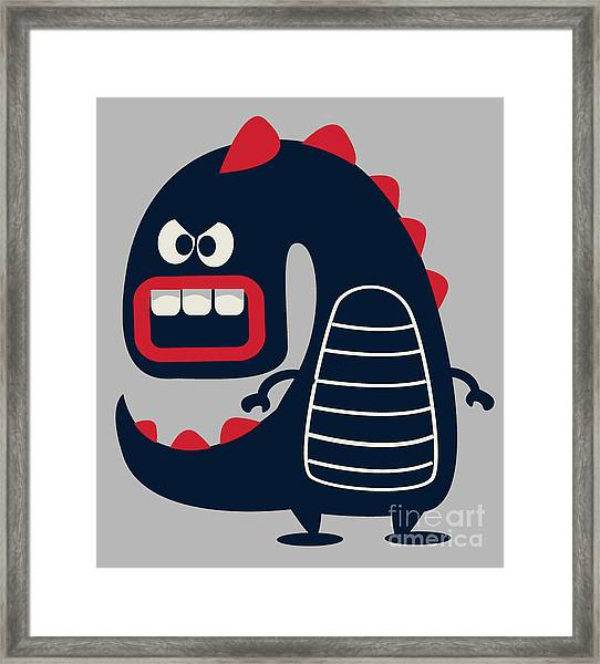 Cute Monster Vector Framed Print