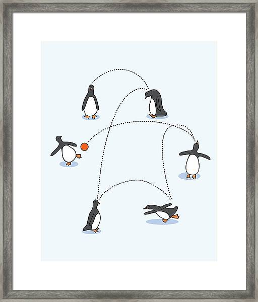 Cute Penguin Art Framed Print