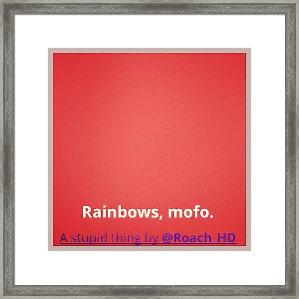 #cute Rainbow #background #effect With Framed Print