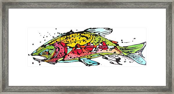 Cutthroat Trout Framed Print