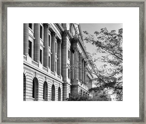 Cuyahoga County Court House Framed Print