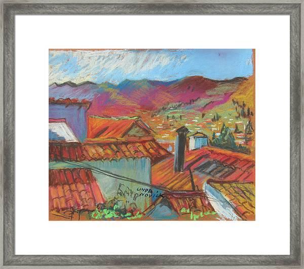 Cuzco Rooftops Framed Print