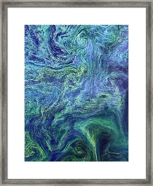 Cyanobacteria Bloom Framed Print by Nasa