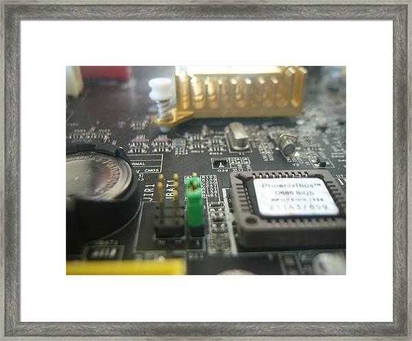 Cyber City Framed Print