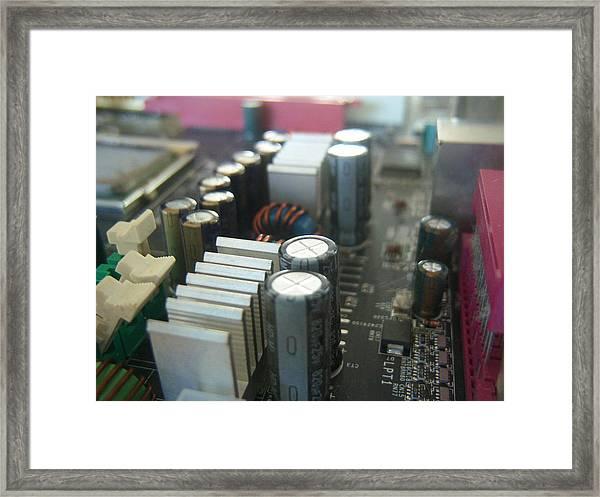 Cyber - Cityscape Framed Print