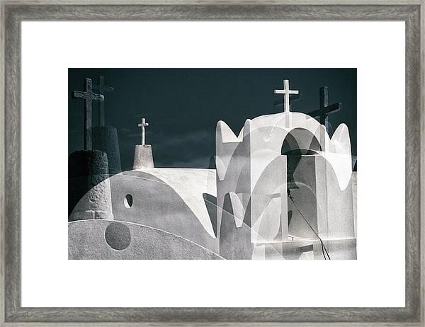 Cycladen Crosses Framed Print