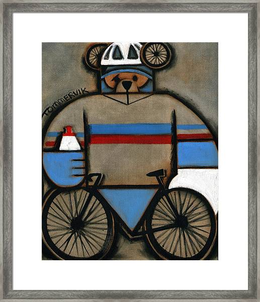 Tommervik Cycling Bear Framed Print