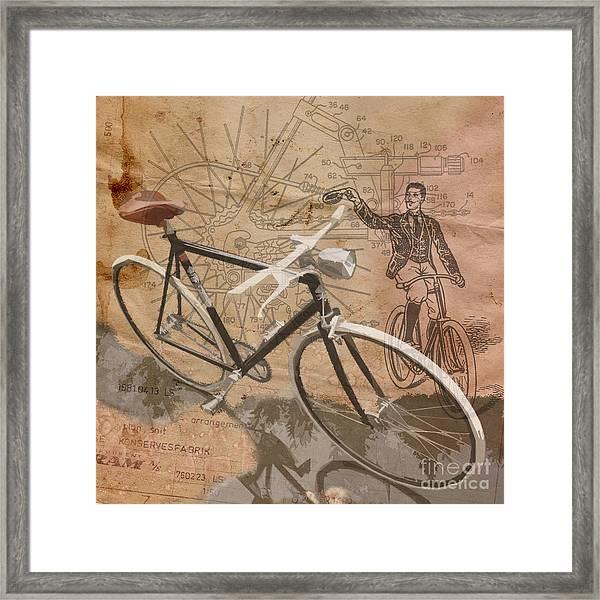 Cycling Gent Framed Print