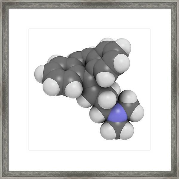 Cyclobenzaprine Molecule Framed Print by Molekuul