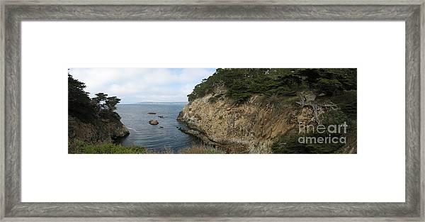 Cypress Cove Panorama Framed Print