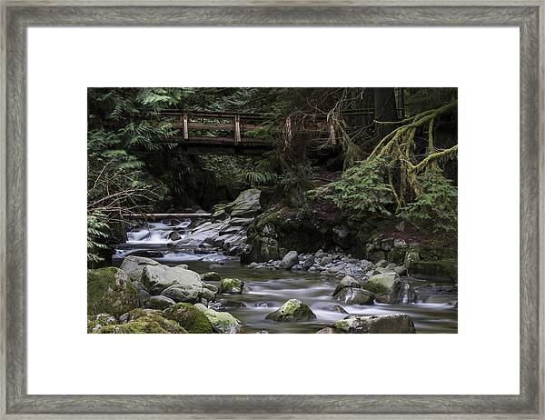 Cypress Falls Framed Print
