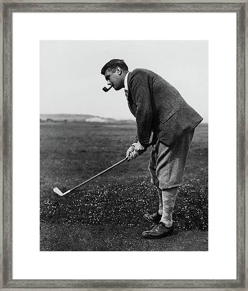 Cyril Tolley Playing Golf Framed Print by Artist Unknown
