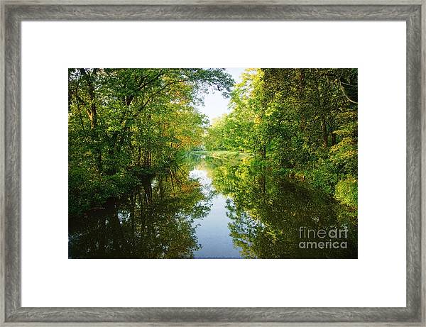 D And R Canal  Framed Print