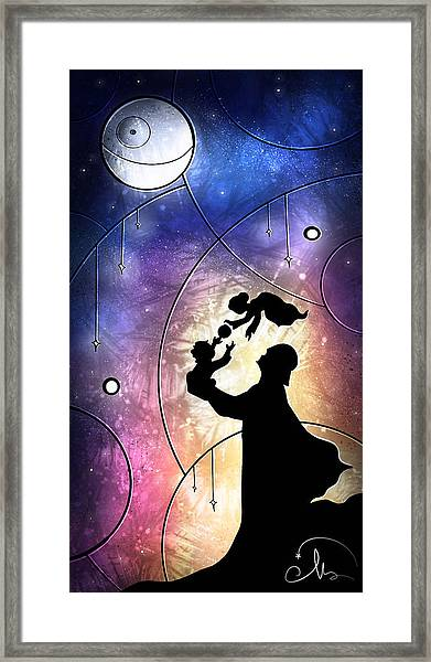 Darth Daddy Framed Print