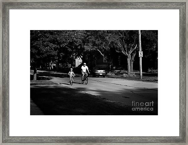 Daddy's Shadow Framed Print