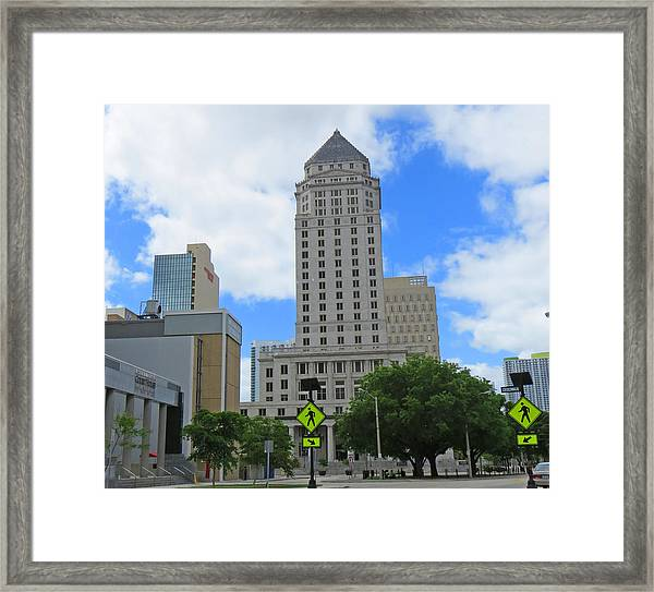 Dade County Couirthouse Framed Print
