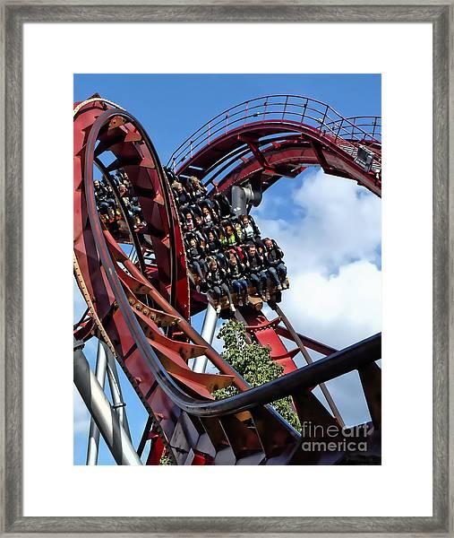 Daemonen - The Demon Rollercoaster - Tivoli Gardens - Copenhagen Framed Print