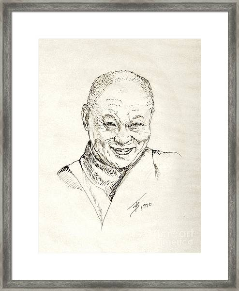 Dahlai Lama Framed Print