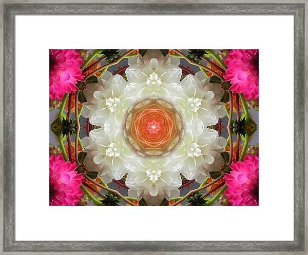 Dahlia Portal Mandala Framed Print