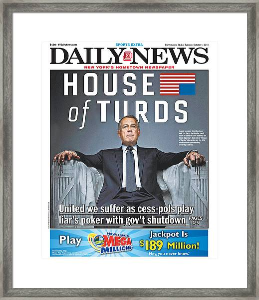 Daily News Front Page Framed Print