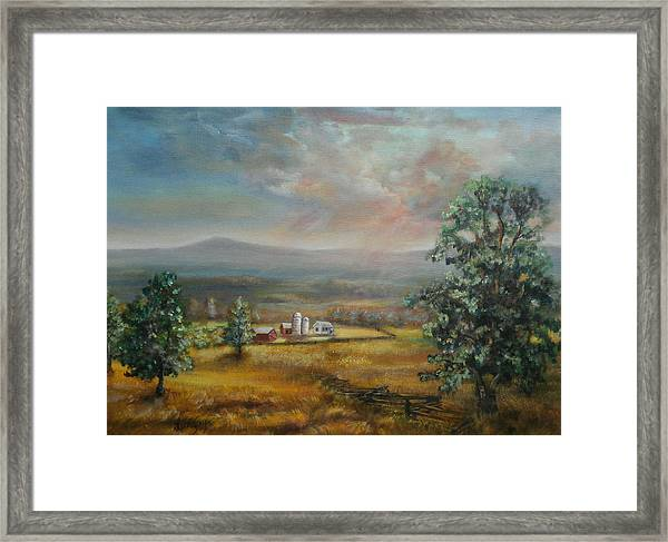 Dairy Farm Pennsylvania Framed Print