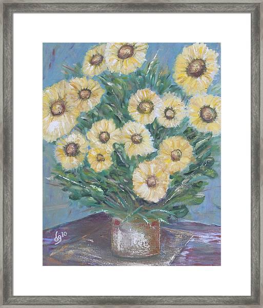 Daisy Burst Framed Print
