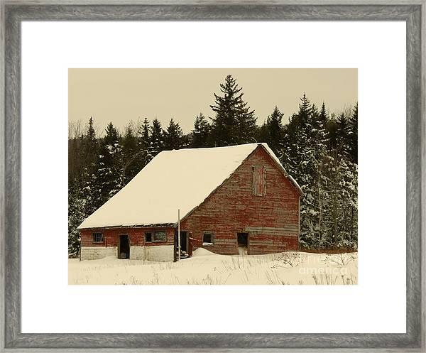 Dale Lane Barn Framed Print