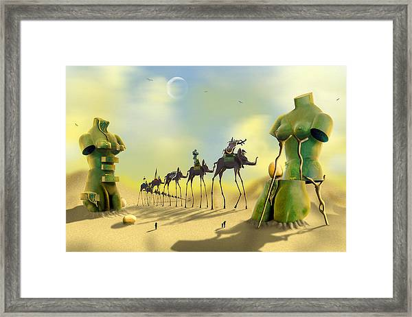 Dali On The Move  Framed Print