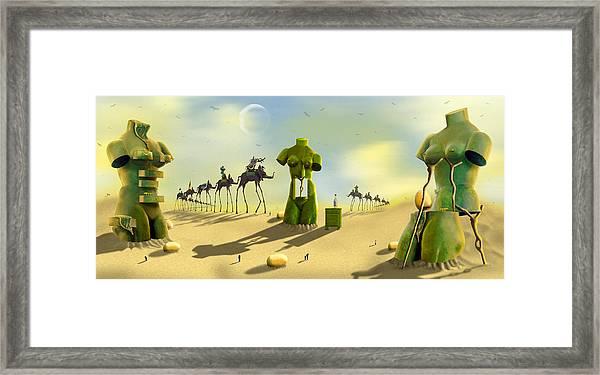 Daliland Park - Panoramic Framed Print