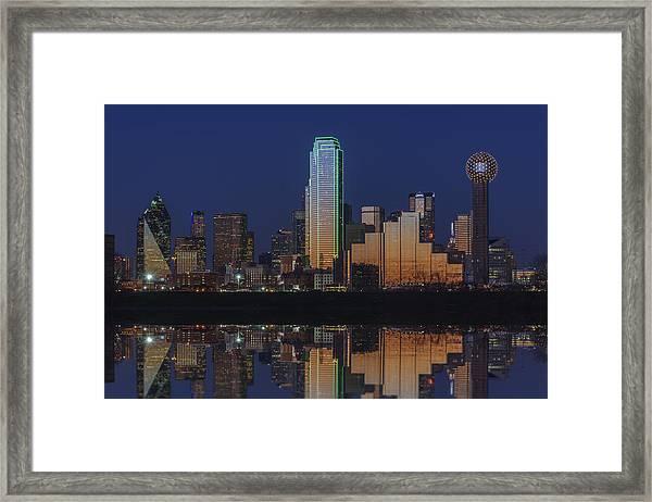 Dallas Aglow Framed Print