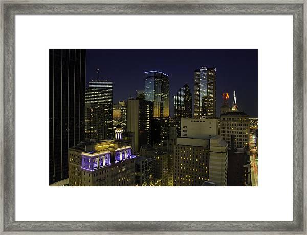 Dallas Cityscape Framed Print