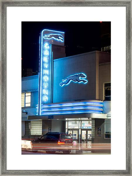 Dallas Greyhound V2 020915 Framed Print
