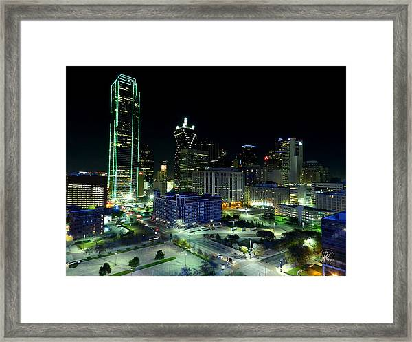 Framed Print featuring the photograph Dallas Hdr 007 by Lance Vaughn