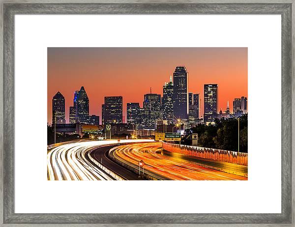 Dallas Sunrise Framed Print