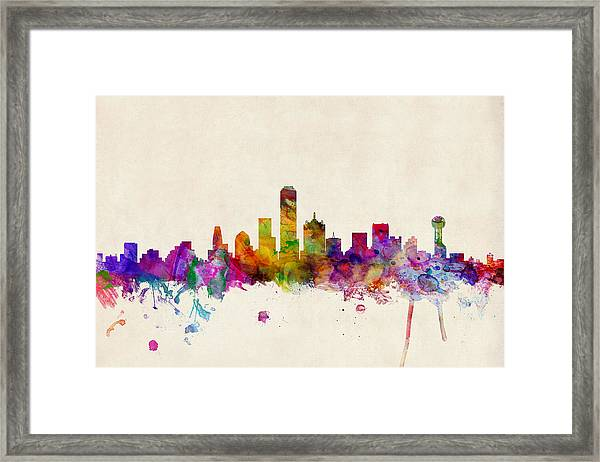 Dallas Texas Skyline Framed Print