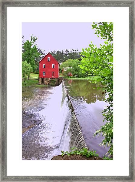 Dam At Starrs Mill Framed Print