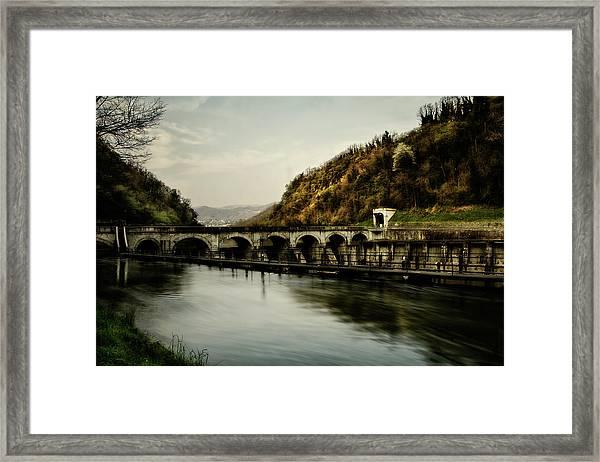 Dam On Adda River Framed Print