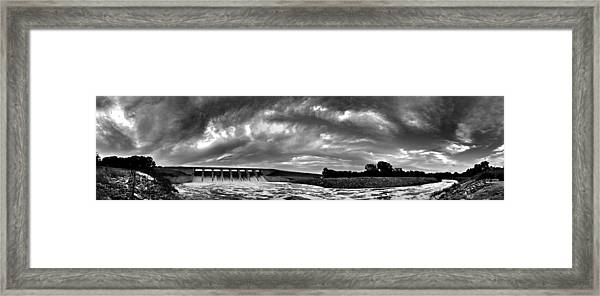 Dam Panoramic Framed Print