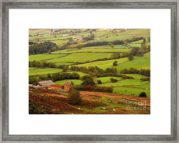 Danby Dale Yorkshire Moors Framed Print
