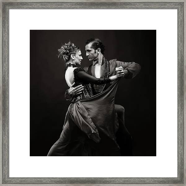 Dance Of Love Framed Print by Ozgurdonmaz