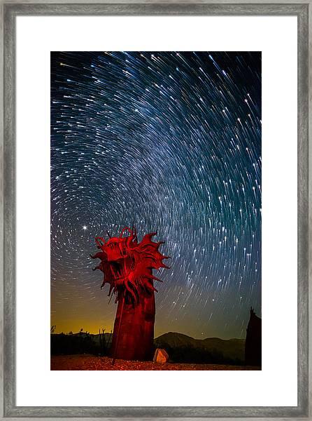 Dance Of The Star Serpent Framed Print