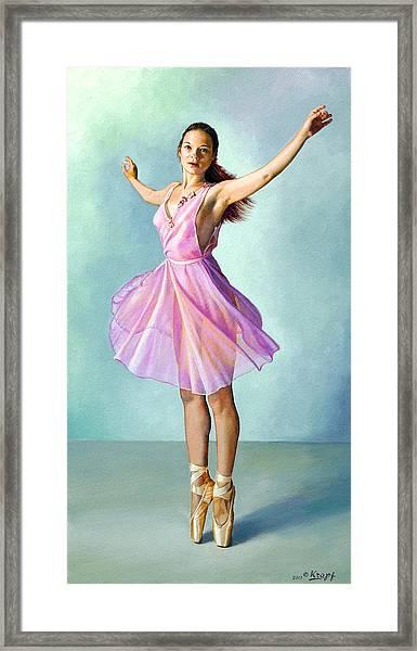 Dancer In Pink Framed Print