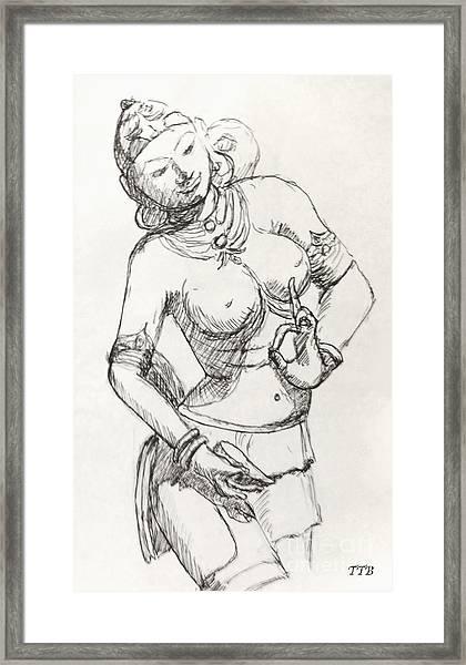 Dancer Of India Framed Print